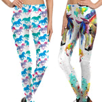 Watercolor Horse Leggings