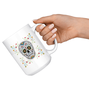 Floral Sugar Skull Coffee Mug - Hello Moa