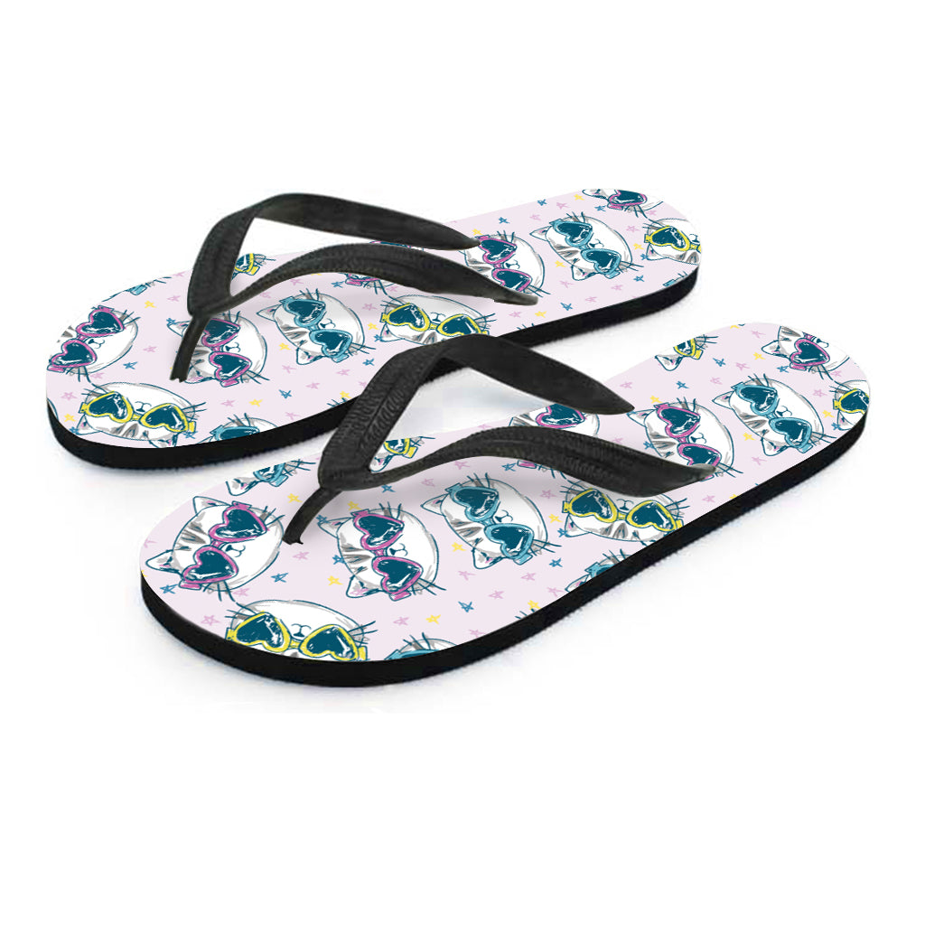 Happy Cat Flip Flops - Hello Moa