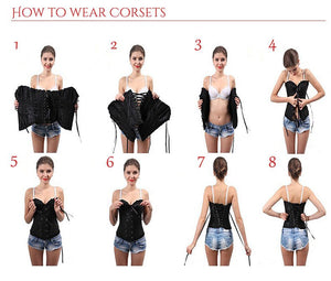 Lace Up Corset - Hello Moa
