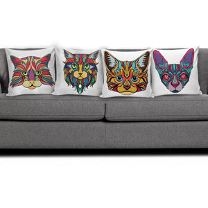 Ink Art Cat Pillow Covers - Hello Moa