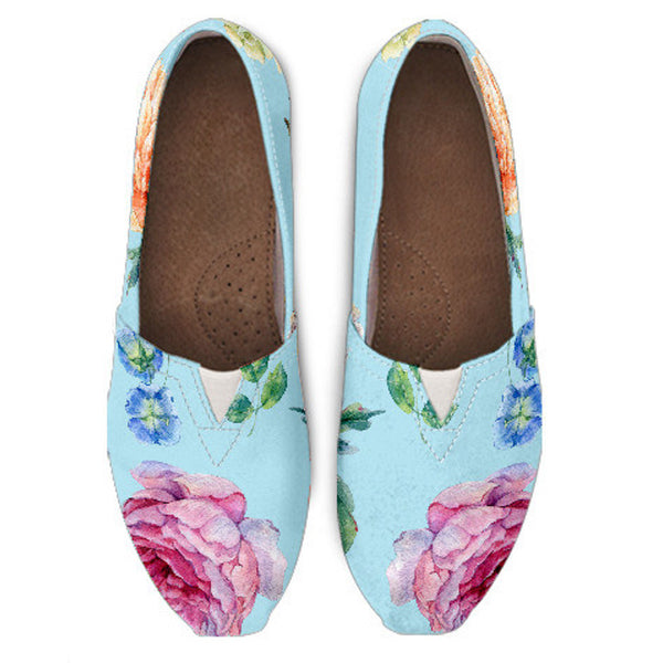 Blue Flower Casual Shoe
