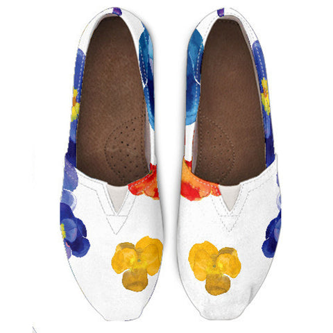 Pansy Flower Casual Shoe