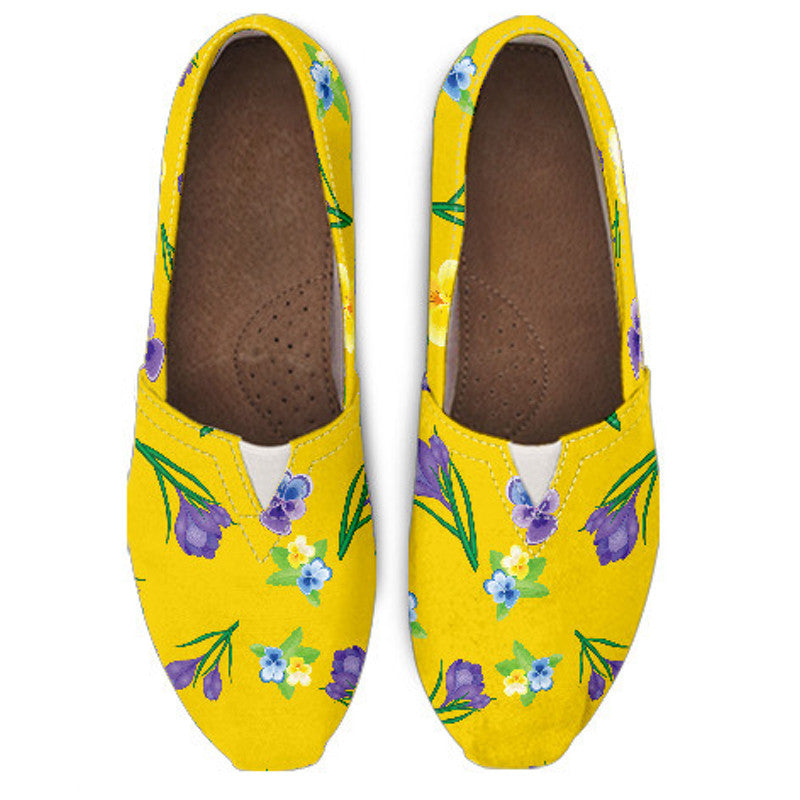 Yellow Flower II Casual Shoe - Hello Moa