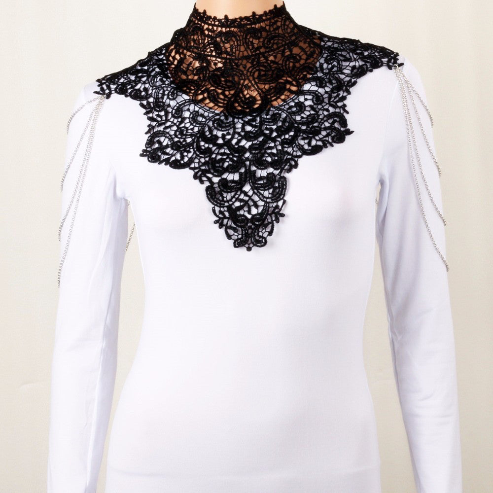 Steampunk Lace Bib