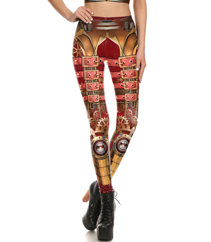 """Moa"" Steampunk Leggings"