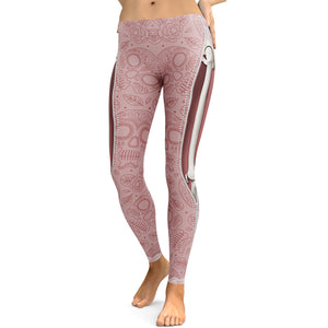 Pink Skull Leggings - Hello Moa