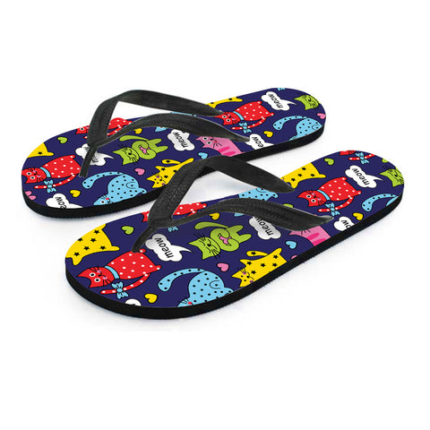 Image of Meow Cat Flip Flops