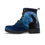 Black Cat & Moon Boots (Women's) - Hello Moa