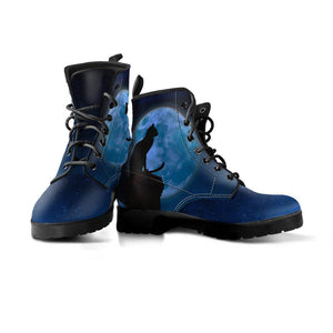 Black Cat & Moon Boots (Women's)