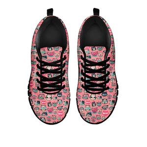 Pink Meow Cat Sneakers (Kids)