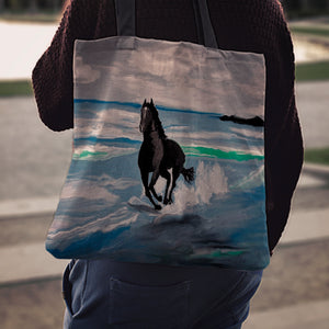 Seascape Horse Cloth Tote