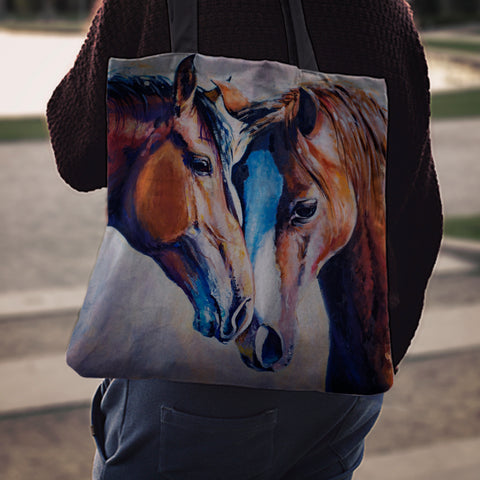Horse Lovers Cloth Tote Bag