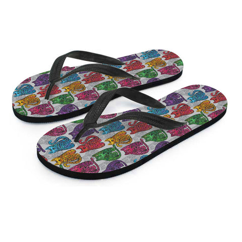 Image of Paisley Cat Flip Flops