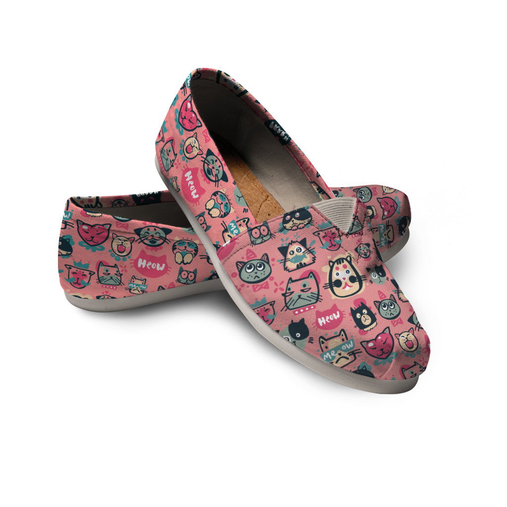 Pink Meow Cat Casual Shoes