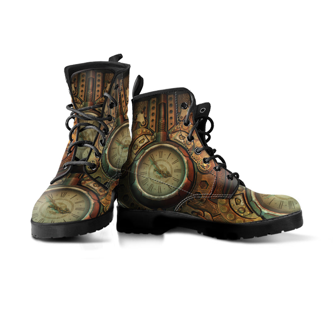 Piston Clock II Steampunk Boots - Hello Moa