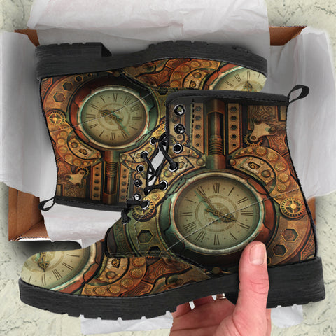Image of Piston Clock II Steampunk Boots