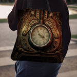Piston Clock Cloth Tote Bag