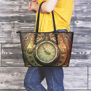 Piston Clock Steampunk Large Tote