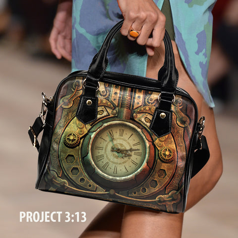 Image of Piston Clock II Steampunk Handbag