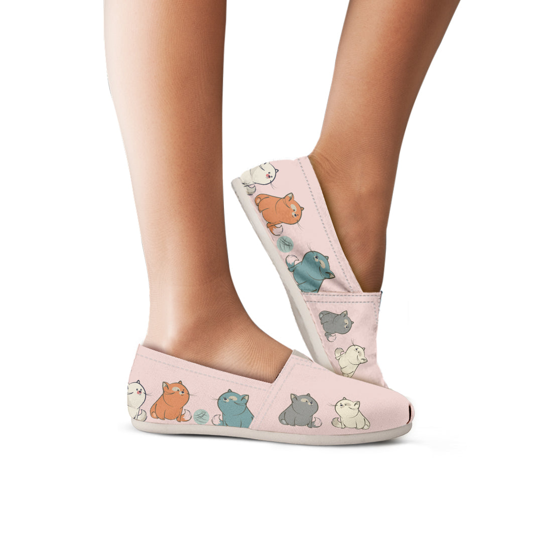 Plump Cat Casual Shoes