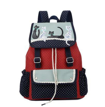 Canvas Cat Backpack