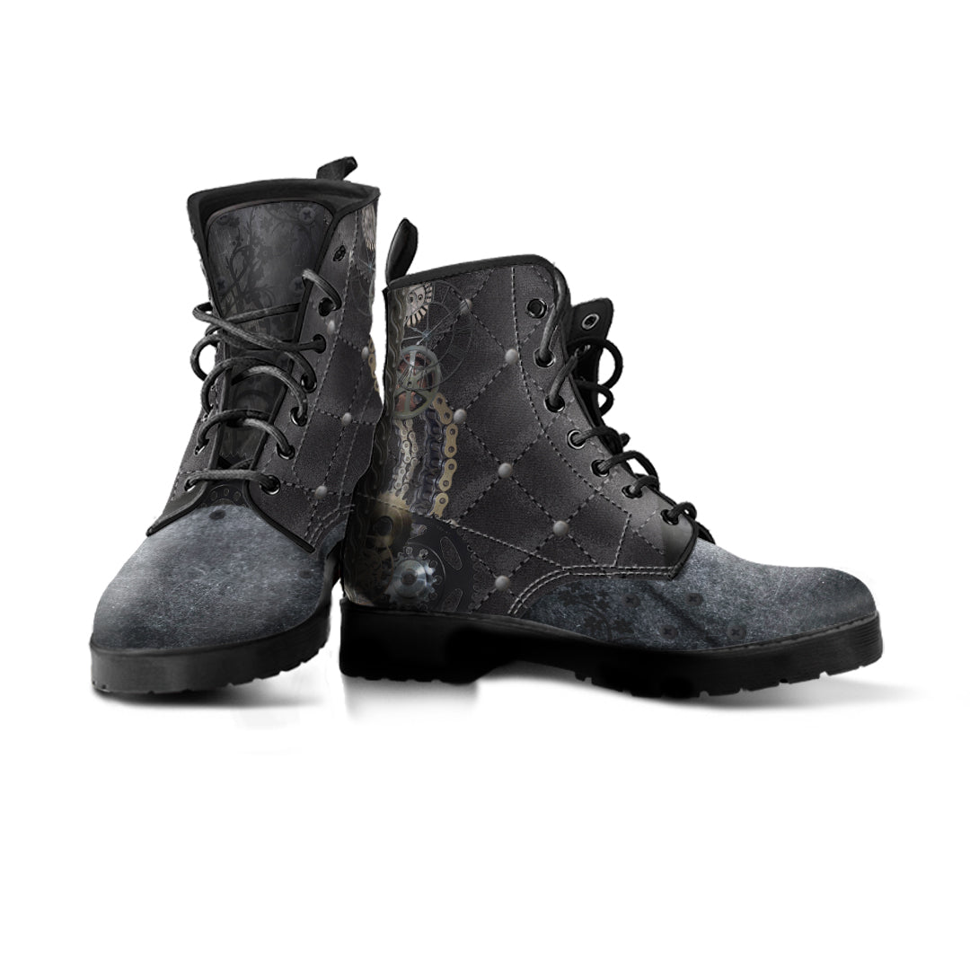 Steampunk Quilted Boots (Women's) - Hello Moa