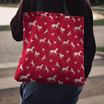 Red Horse Cloth Tote Bag