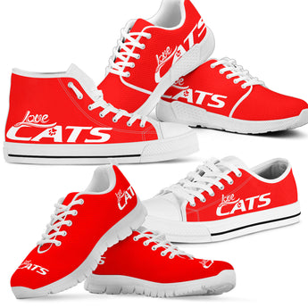 Love Cats Shoes (Red)
