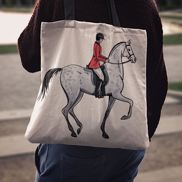 Equestrian Rider Cloth Tote Bag