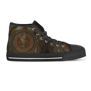 Rusted Clock Steampunk High Cut Shoes