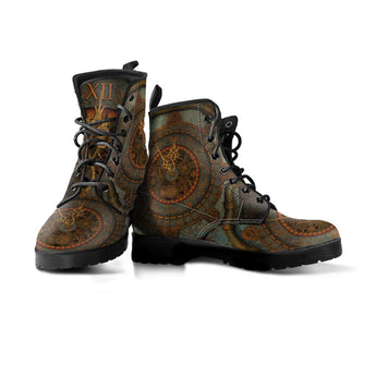 Rusted Clock Steampunk Boots