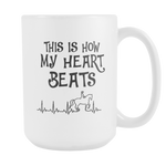 Horse Heart Beat Mug - Hello Moa