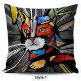 Expressionist Cat Pillow Covers