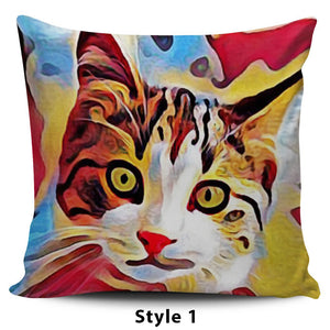 Art III Cat Pillows - Hello Moa