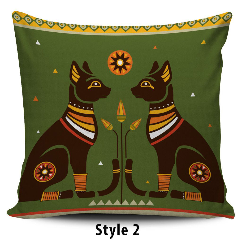 Egyptian Cat Pillow Covers - Hello Moa