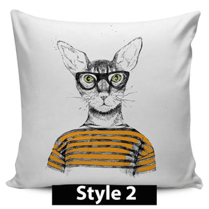 Fashion Cat Pillow Covers - Hello Moa