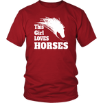 This Girl Loves Horses Shirts - Hello Moa