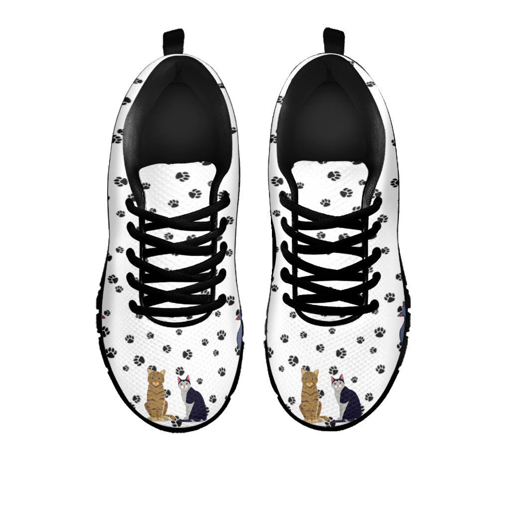 Sitting Cats Sneakers (Kids) - Hello Moa