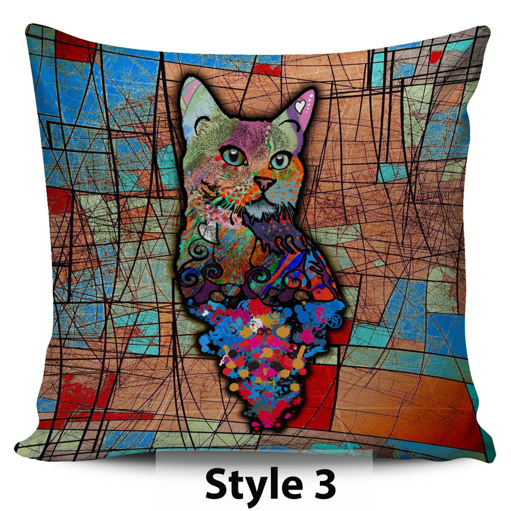 Surreal Cat Pillow Covers - Hello Moa