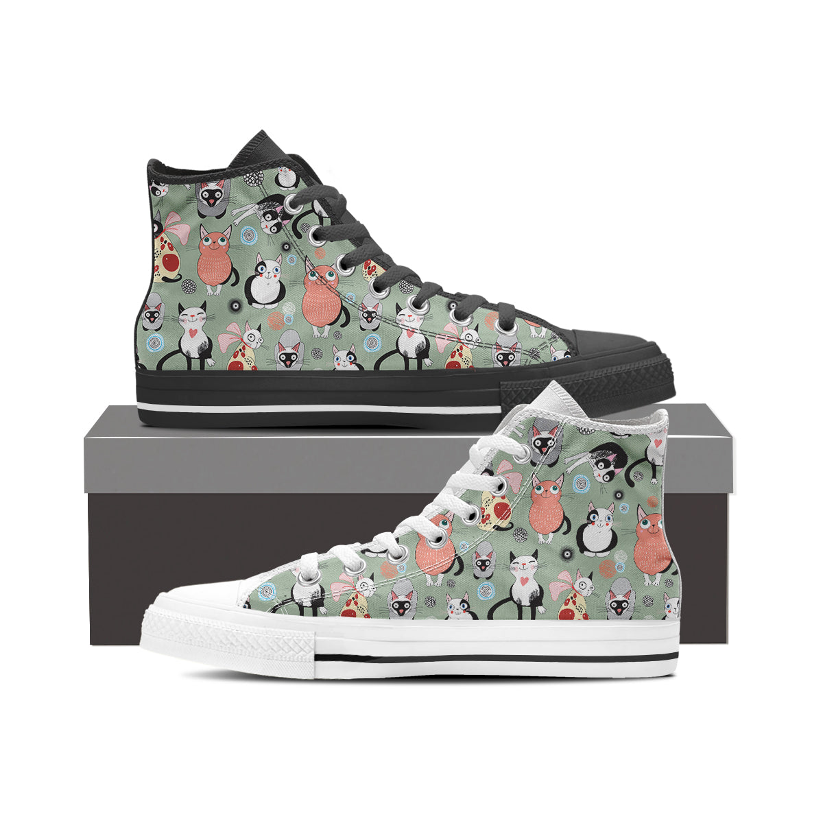 Snugly Cat High Tops (Women's) - Hello Moa