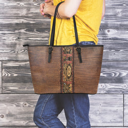 Steampunk Leather Tote Bag