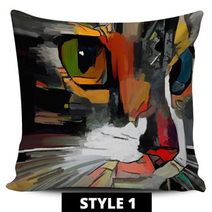 Art Cat Pillow Covers