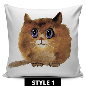 Cute Cat Pillow Covers - Hello Moa