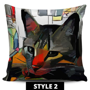 Art Cat Pillow Covers - Hello Moa
