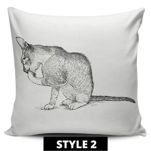 Classic Cat Pillow Covers - Hello Moa