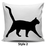 Black & White Cat Pillow Covers