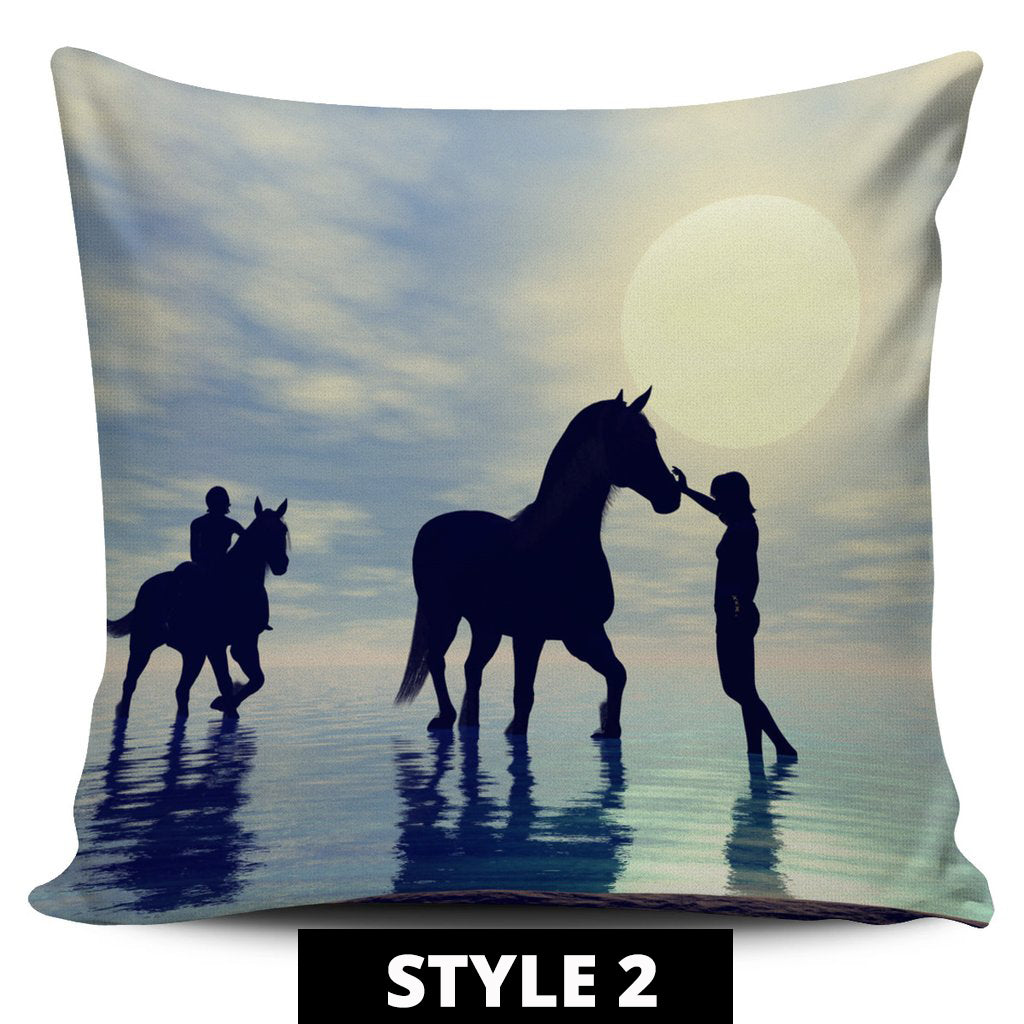 Horse Landscape Pillow Covers - Hello Moa
