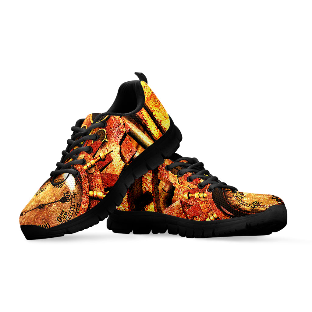 Steampunk Golden Sneakers - Hello Moa