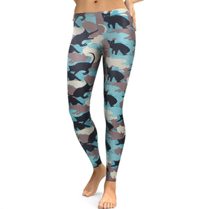Cat Pattern Leggings - Hello Moa